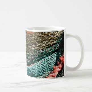 Fishing nets classic white coffee mug
