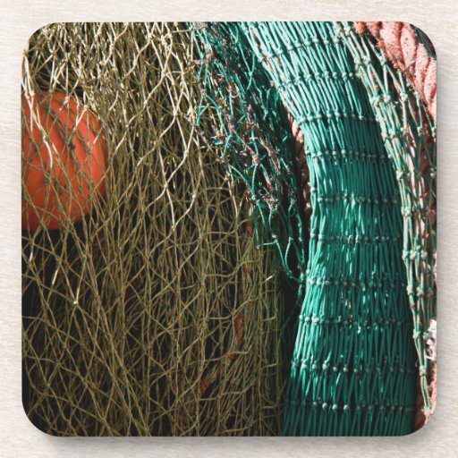 Fishing nets drink coasters