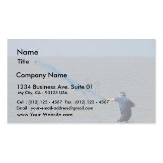 Fishing Nets Ocean Business Card Template
