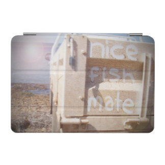 Fishing nice fish mate blue beige beach ute iPad mini cover
