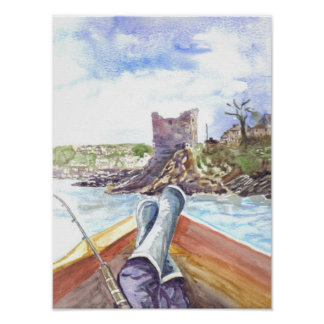 Fishing off Polruan Poster