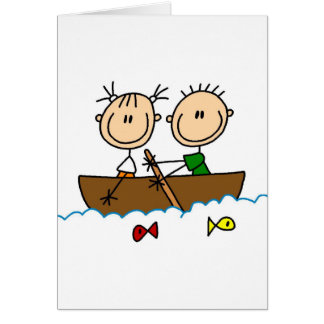 Fishing On Boat Card