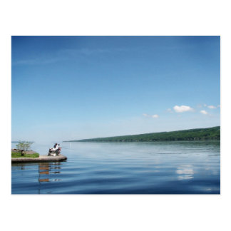 Fishing on Cayuga Lake Postcard