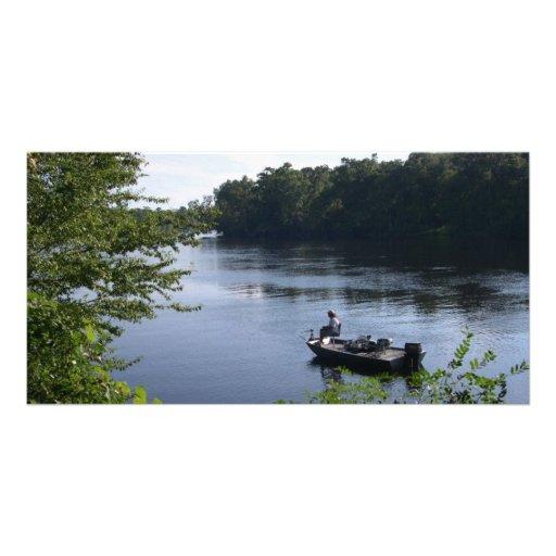 Fishing on the Suwannee River Photo Card