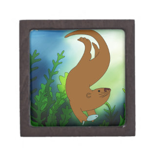 Fishing Otter Premium Keepsake Box