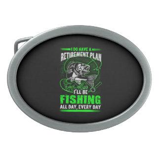 Fishing Oval Belt Buckle