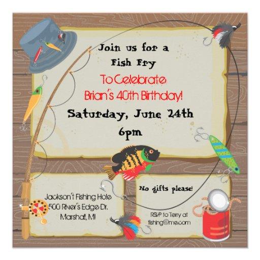 Fishing Party Invitation