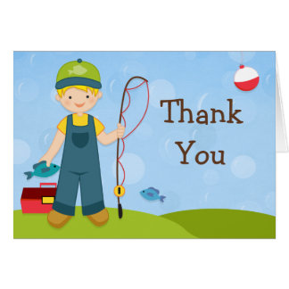 Fishing Party Thank You Card