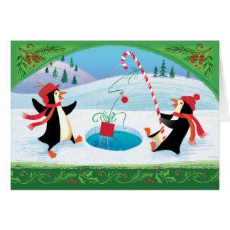 Fishing Penguin Christmas Card