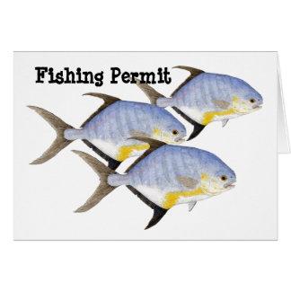 Fishing Permit Card
