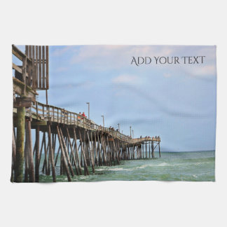 Fishing Pier by Shirley Taylor Kitchen Towel