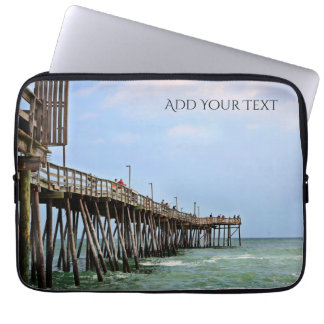 Fishing Pier by Shirley Taylor Laptop Sleeve