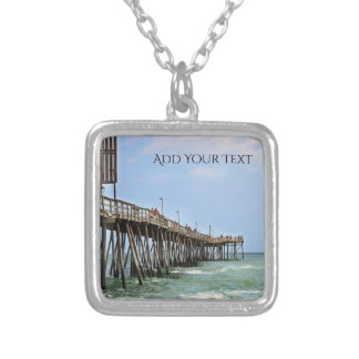 Fishing Pier by Shirley Taylor Silver Plated Necklace