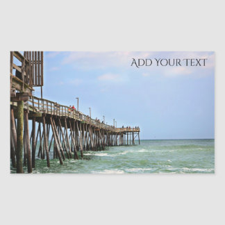 Fishing Pier by Shirley Taylor Sticker