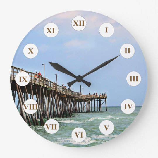 Fishing Pier by Shirley Taylor Wall Clock