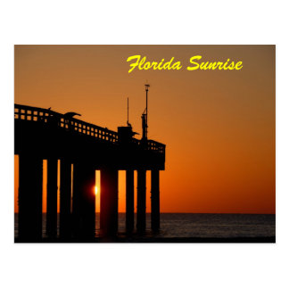 Fishing Pier Sunrise Postcard