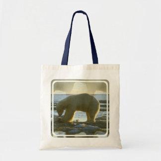 Fishing Polar Bear Budget Tote Bag