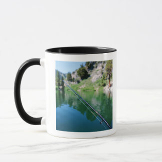 Fishing pole and lake mug