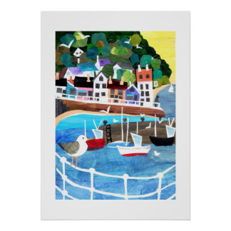 Fishing Port Poster or Print