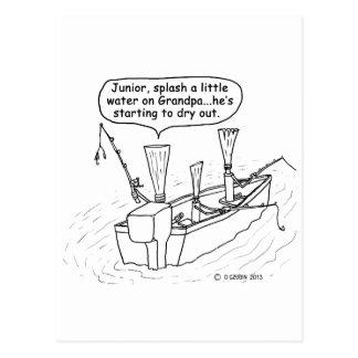 Fishing Reeds Postcard