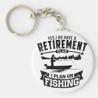 Fishing Retirement Basic Round Button Keychain