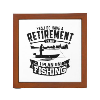 Fishing Retirement Desk Organizer