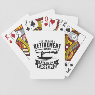 Fishing Retirement Playing Cards