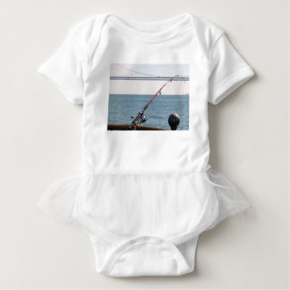 Fishing Rod on the Pier in San Francisco Bay Baby Bodysuit