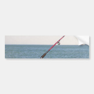 Fishing Rod on the Pier in San Francisco Bay Bumper Sticker