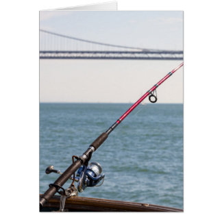 Fishing Rod on the Pier in San Francisco Bay Card