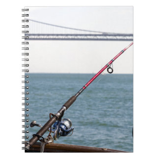 Fishing Rod on the Pier in San Francisco Bay Notebooks
