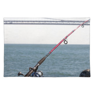 Fishing Rod on the Pier in San Francisco Bay Placemat