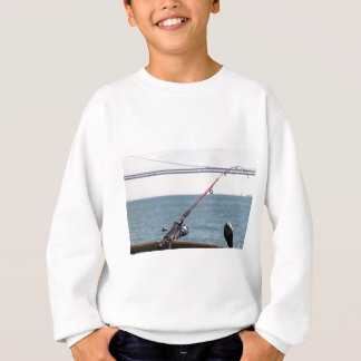 Fishing Rod on the Pier in San Francisco Bay Sweatshirt