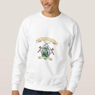 Fishing Rod Reel Blue Marlin Fish Beer Bottle Coat Sweatshirt