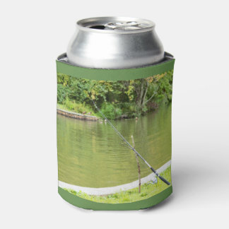 Fishing Rod with Pond Can Cooler
