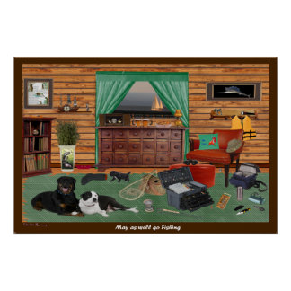 Fishing Room 22.5 X 15 Poster