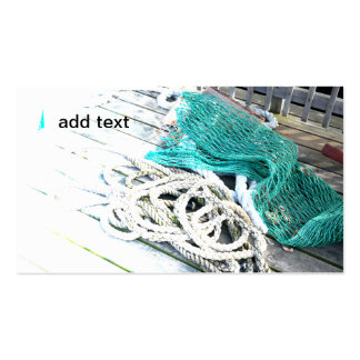 fishing rope and netting pack of standard business cards