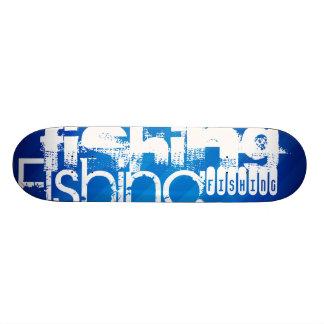 Fishing; Royal Blue Stripes Custom Skateboard