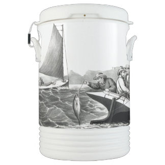 Fishing Sailboat Tuna Ocean Blue Fin Igloo Cooler