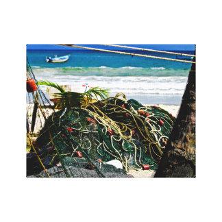 Fishing Seines - Maracas Beach - Canvas Art