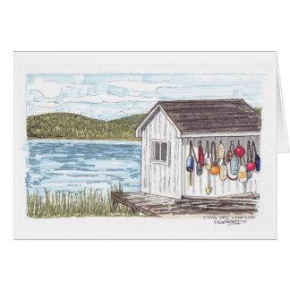 Fishing Shack in Nova Scotia sketch Card