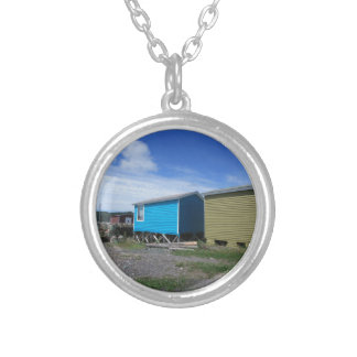 Fishing Sheds Silver Plated Necklace