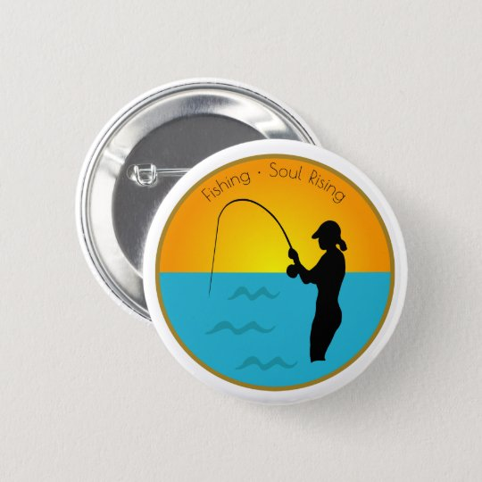 Fishing Soul Rising 2 Inch Round Button