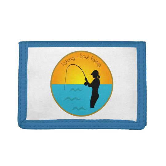 Fishing Soul Rising Trifold Wallet