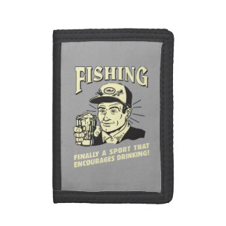 Fishing: Sport Encourages Drinking Trifold Wallet