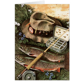 Fishing Still Life Card