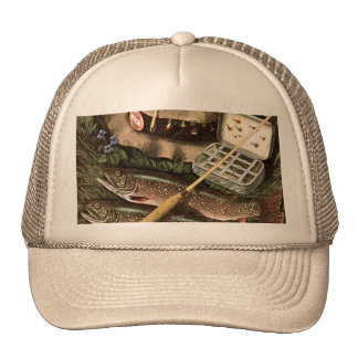 Fishing Still Life Trucker Hat