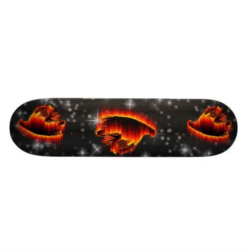 Fishing Streamer Fly Flame design Skateboards