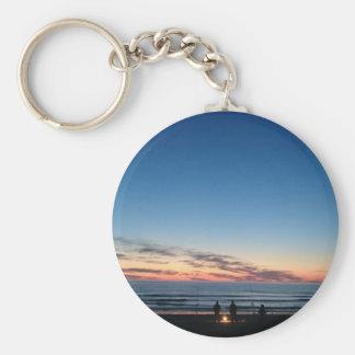 Fishing sunset key ring. keychain