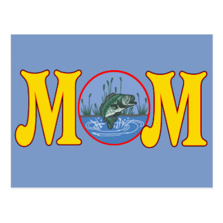 Fishing T-shirts and Gifts For Mom Postcard
